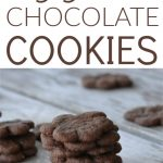 My kids love anything that's mini and these eggless chocolate cookies are so delicious. With only five ingredients, these are quick and easy.