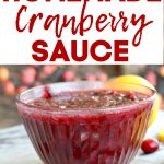 Clear bowl with cranberry sauce