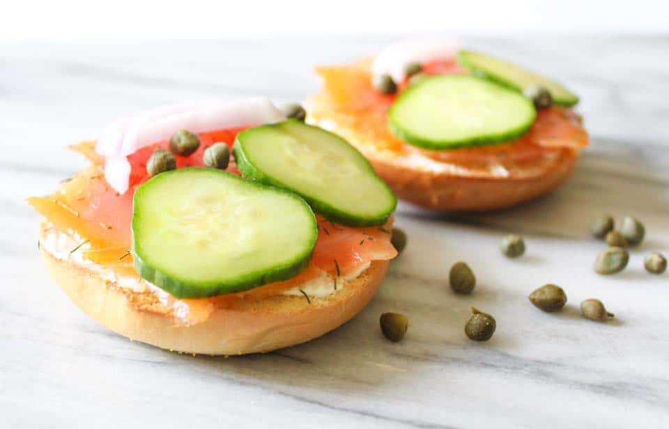 Weight Watchers Smoked Salmon Bagel 2