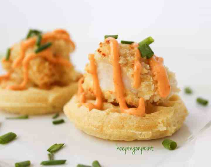 Weight Watchers Chicken and Waffle Bites 2
