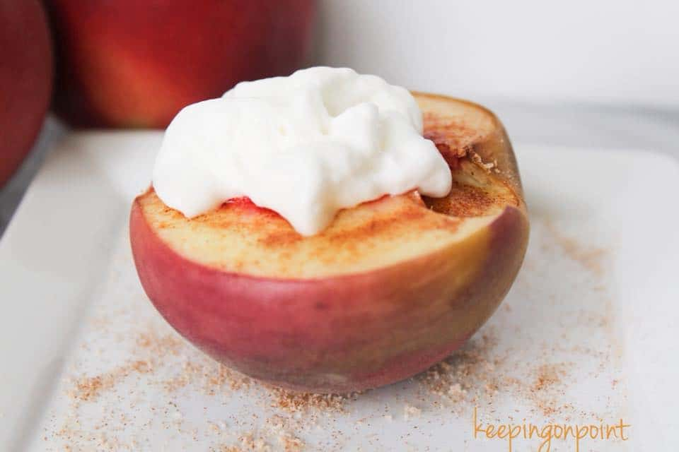 Weight Watchers Baked Peaches 2