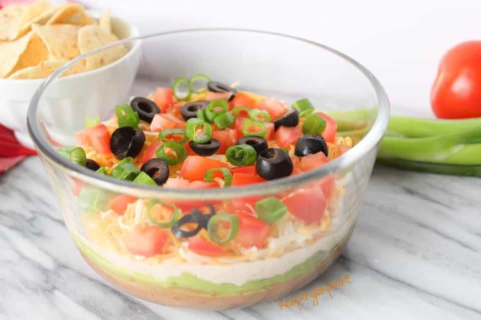 Weight Watchers Seven Layer Dip