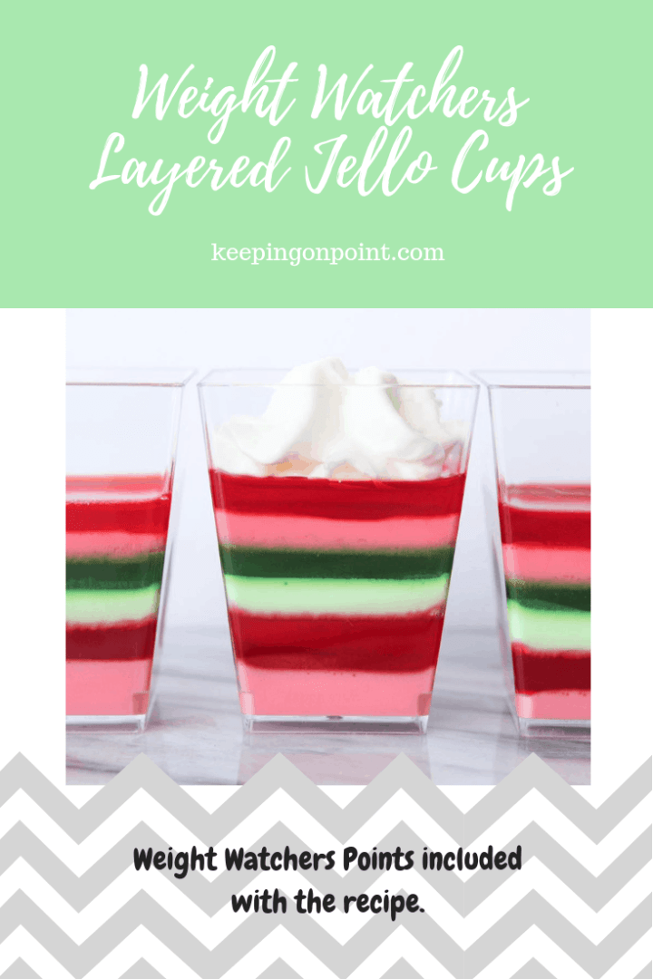 Weight Watchers Freestyle Layered Jello Cups