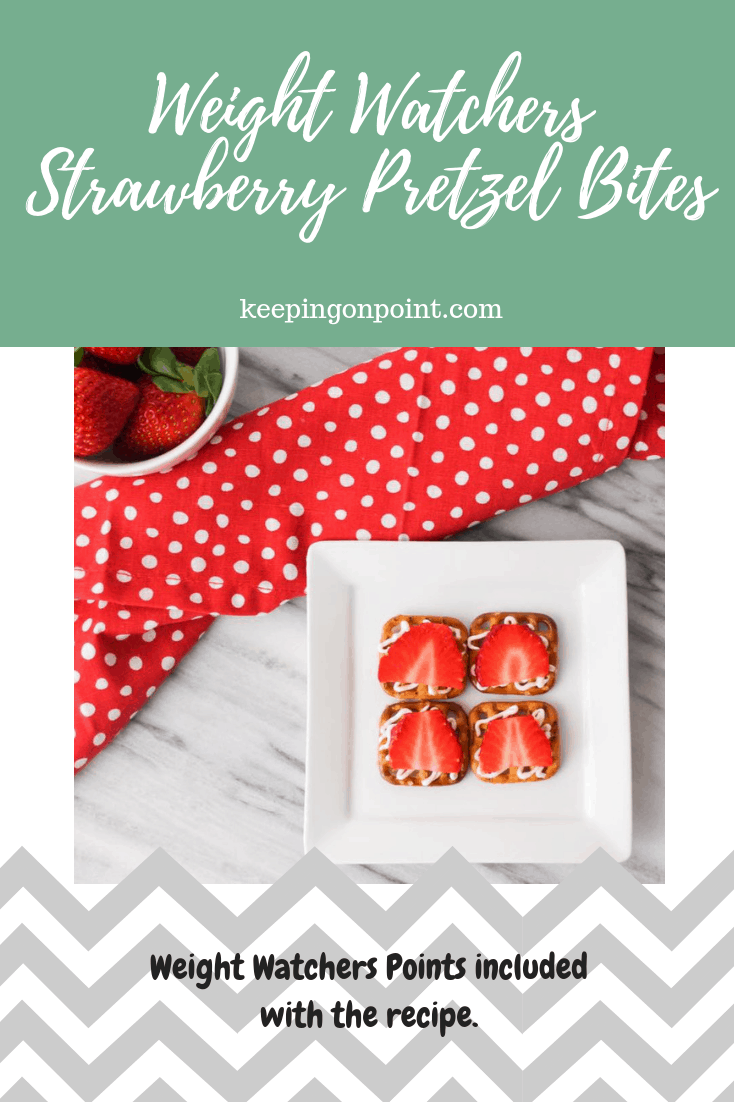 Weight Watchers Freestyle Strawberry Pretzel Bites
