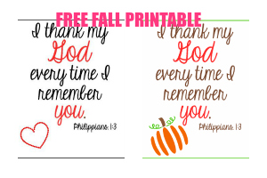 Update and Free Fall Printable