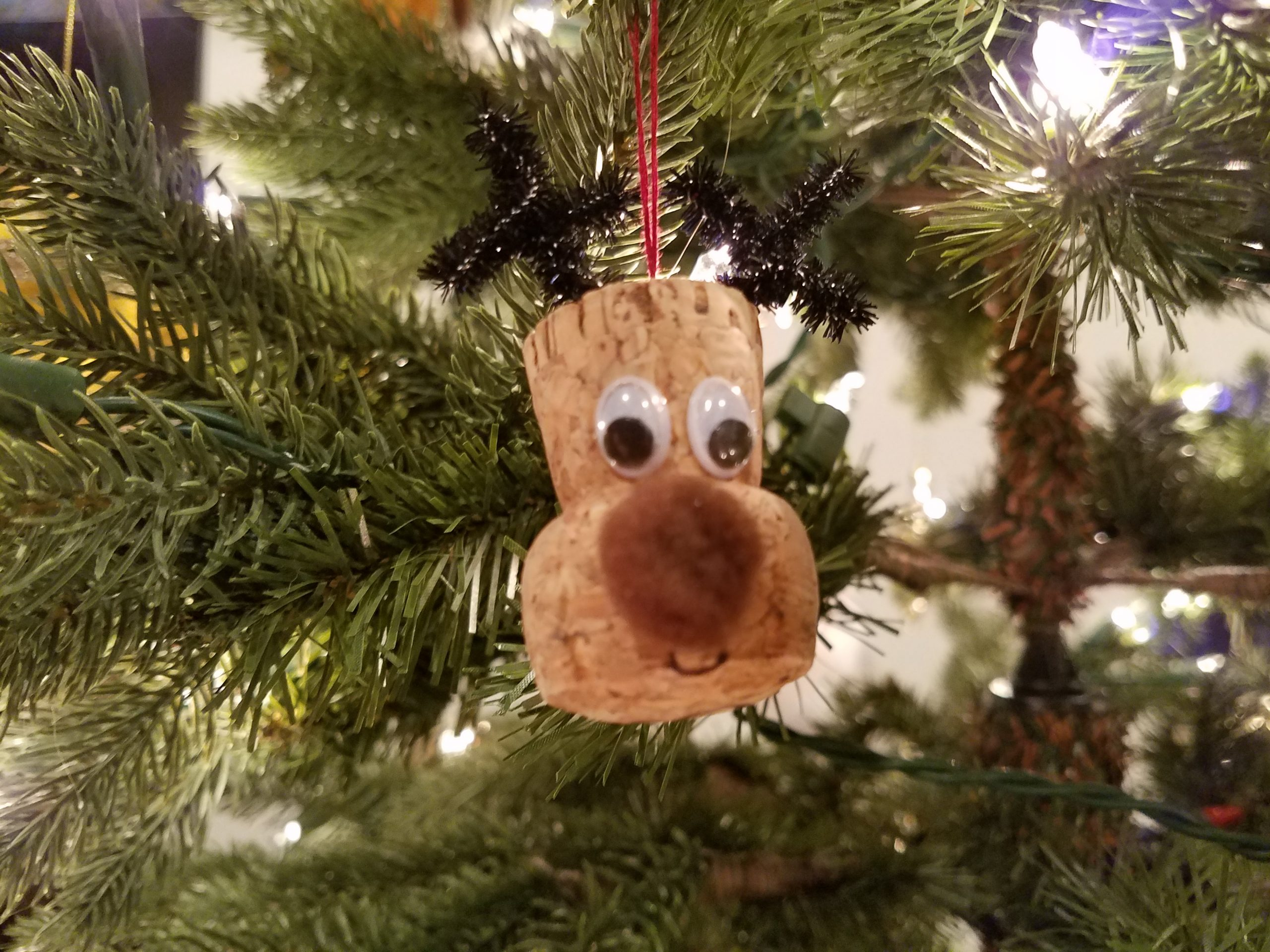 Holiday craft project: reindeer cork ornaments
