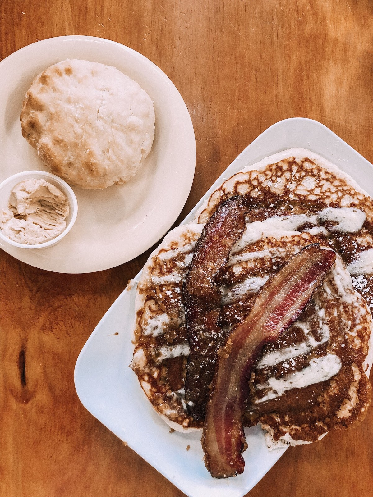 Cinnamon Swirl Pancakes at The Ruby Slipper Cafe on Canal Street in New Orleans