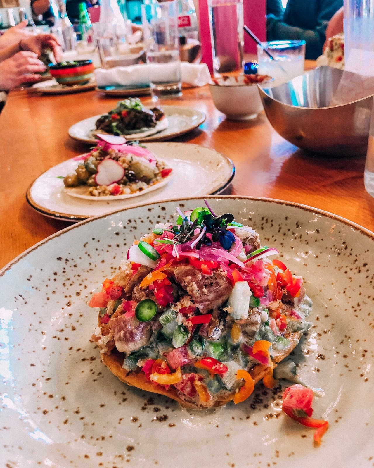 Seared Tuna Tostada small plate at Johnny Sánchez in New Orleans