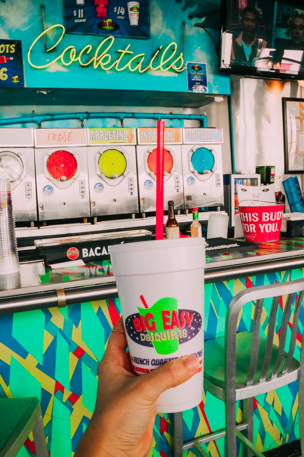 Frozen daiquiris from Big Easy Daiquiris in New Orleans