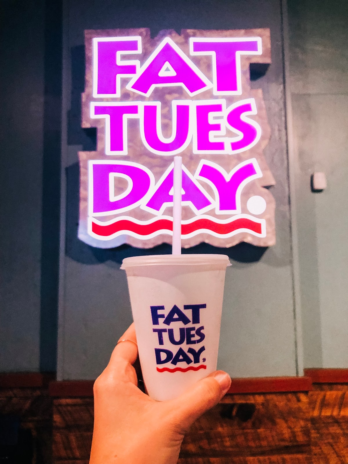 Frozen daiquiris from Fat Tuesday in New Orleans