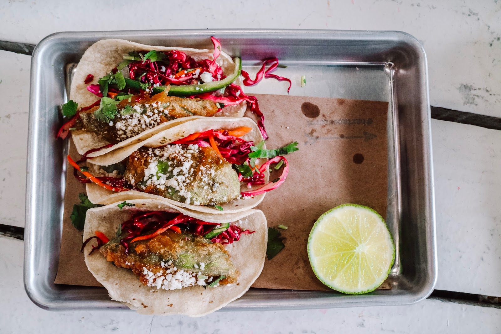 The crispy avocado taco is bartaco's latest secret taco
