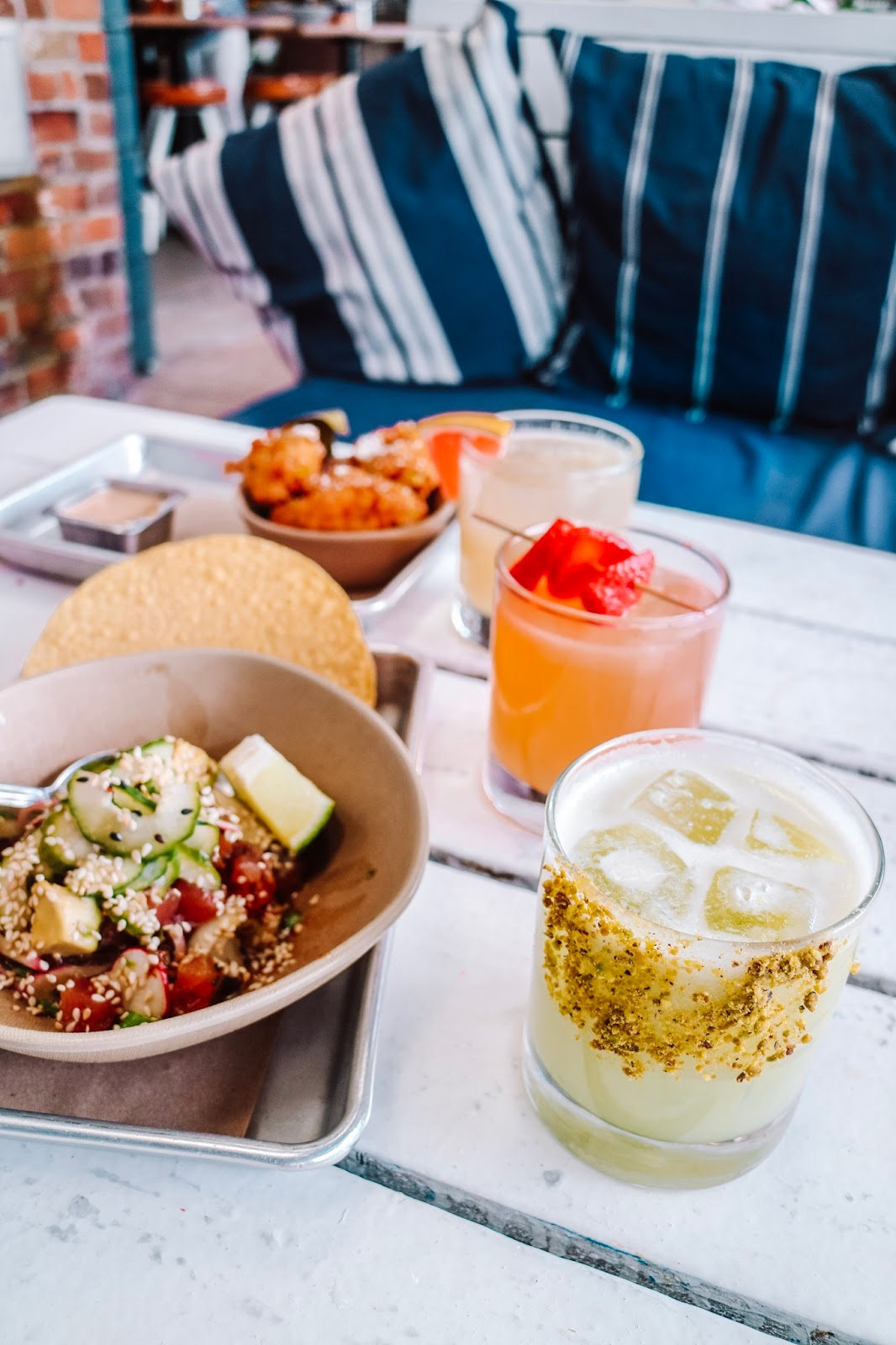 Margarita March offerings at bartaco in Hyde Park Village located in Tampa, Florida