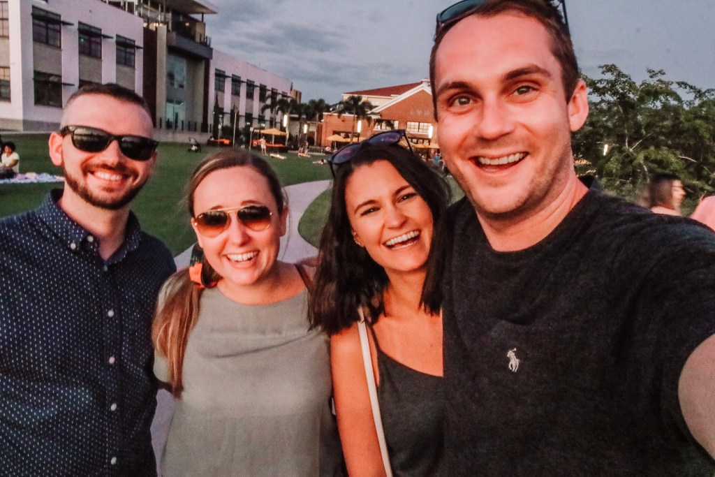 The Tampa Riverwalk with friends