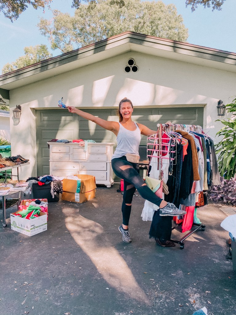 SHARING TIPS, TRICKS AND LESSONS LEARNED FROM HOSTING MY FIRST GARAGE SALE