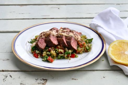 middle eastern lamb and broccoli tabouli