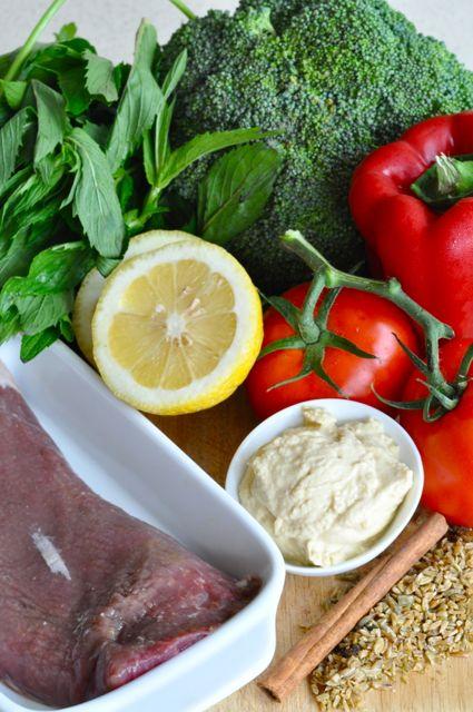 lamb and broccoli tabbouli ingredients