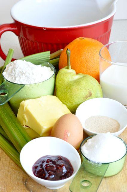 rhubarb yeast cake ingredients