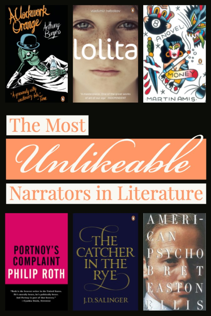 The Most Unlikeable Narrators in Literature - Book Covers - Keeping Up With The Penguins