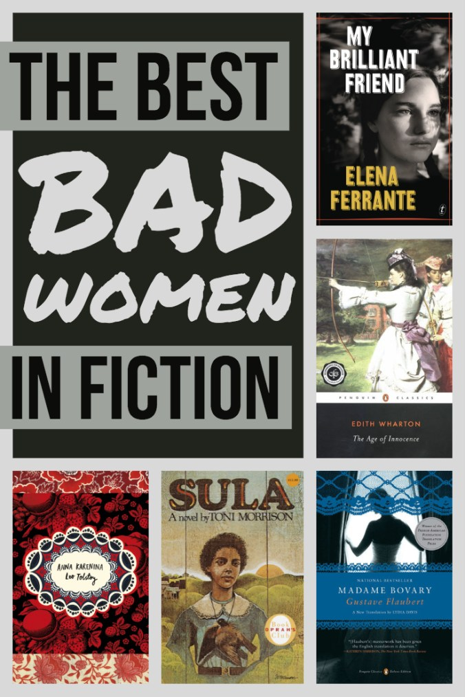 The Best Bad Women In Fiction - Text and Book Covers - Keeping Up With The Penguins