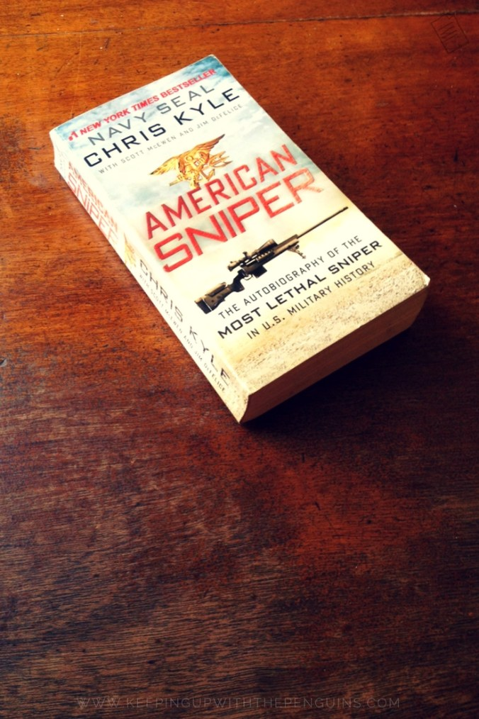 American Sniper - Chris Kyle - book laid on a wooden table - Keeping Up With The Penguins