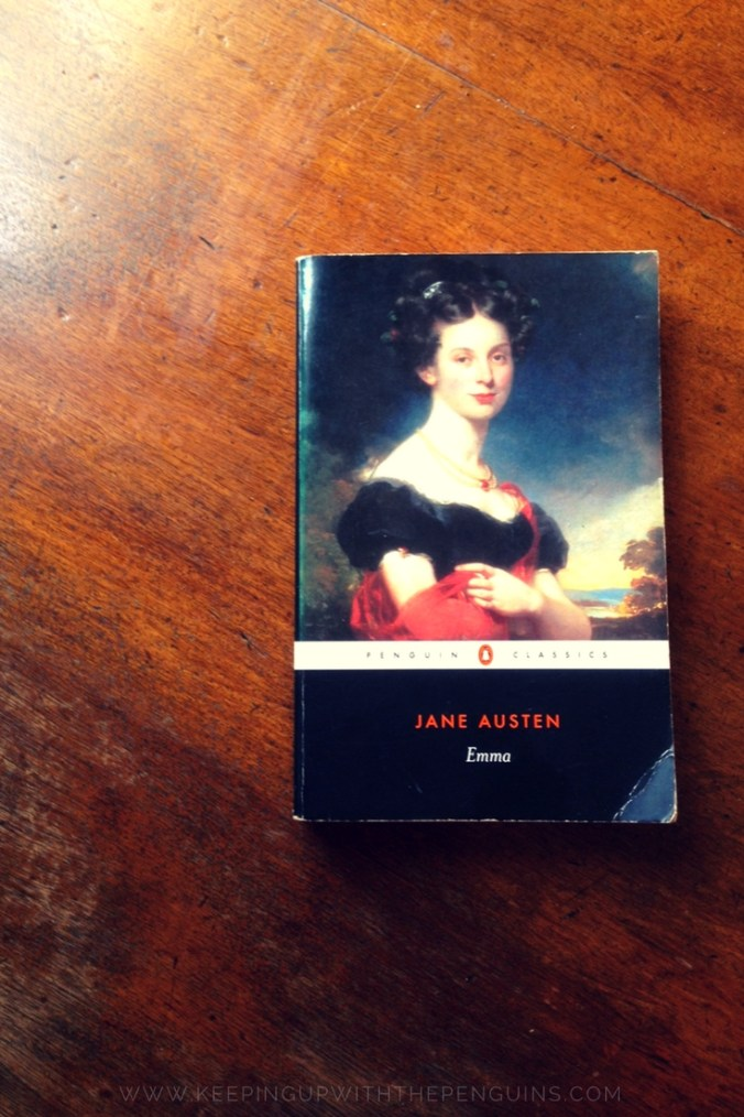 Emma - Jane Austen - book laid on a wooden table - Keeping Up With The Penguins