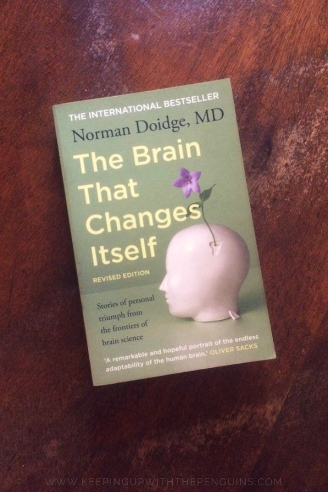 The Brain That Changes Itself - Norman Doidge - Book Laid on Wooden Table - Keeping Up With The Penguins