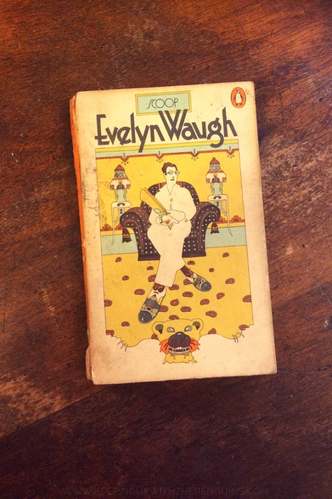 Scoop - Evelyn Waugh - Book Laid on Wooden Table - Keeping Up With The Penguins