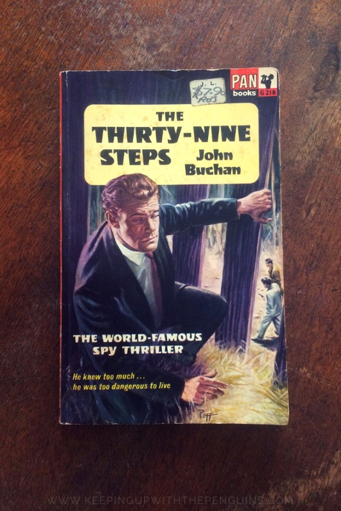 The Thirty Nine Steps - John Buchan - Book Laid on Wooden Table - Keeping Up With The Penguins