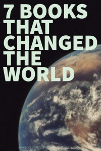 7 Books That Changed The World - Text Overlaid on Cropped Image of Earth from Space - Keeping Up With The Penguins