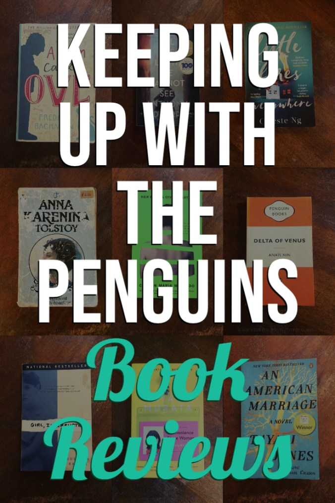 Keeping Up With The Penguins Book Reviews - Text Overlaid on Collage of Book Covers