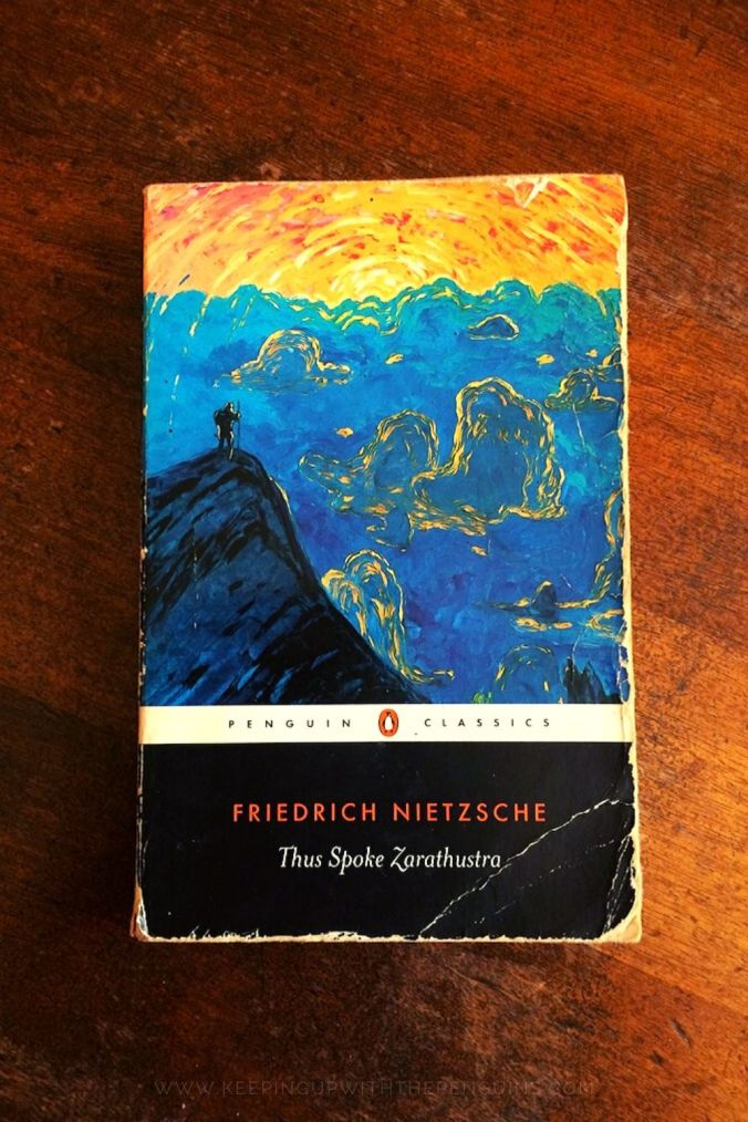Thus Spoke Zarathustra - Friedrich Nietzsche - Book Laid on Wooden Table - Keeping Up With The Penguins