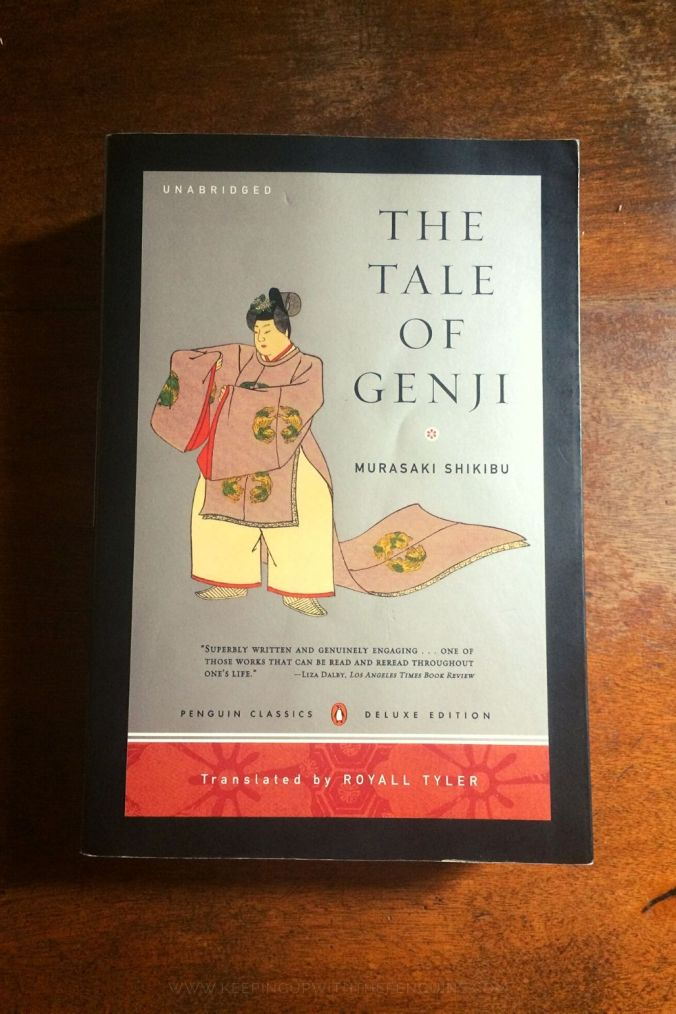 The Tale Of Genji - Murasaki Shikibu - Book Laid on Wooden Table - Keeping Up With The Penguins
