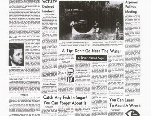 1969 Charlotte News investigation into pollution in Little Sugar Creek.