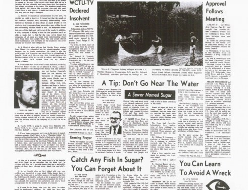 1969 Charlotte News investigation into pollution in Little Sugar Creek.