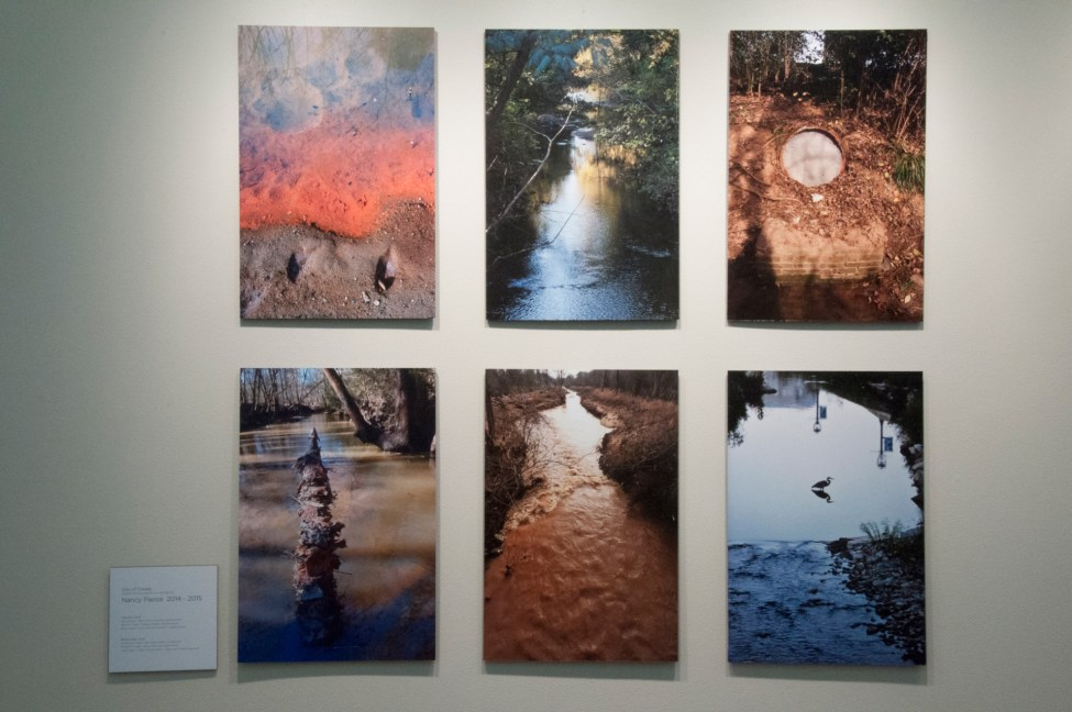 Photos of Mecklenburg creeks by Nancy Pierce at Projective Eye Gallery. Photo: College of Arts + Architecture