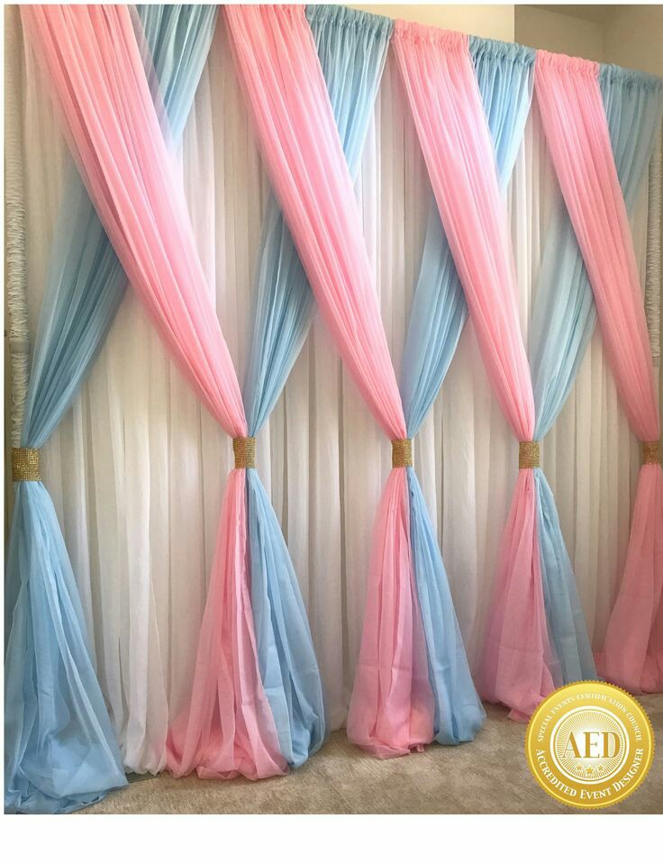 lovely curtains decoration for birthday