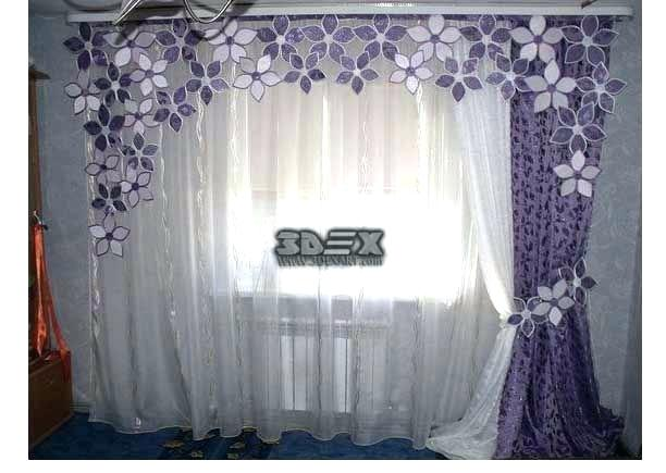 unique curtains design for lovely house