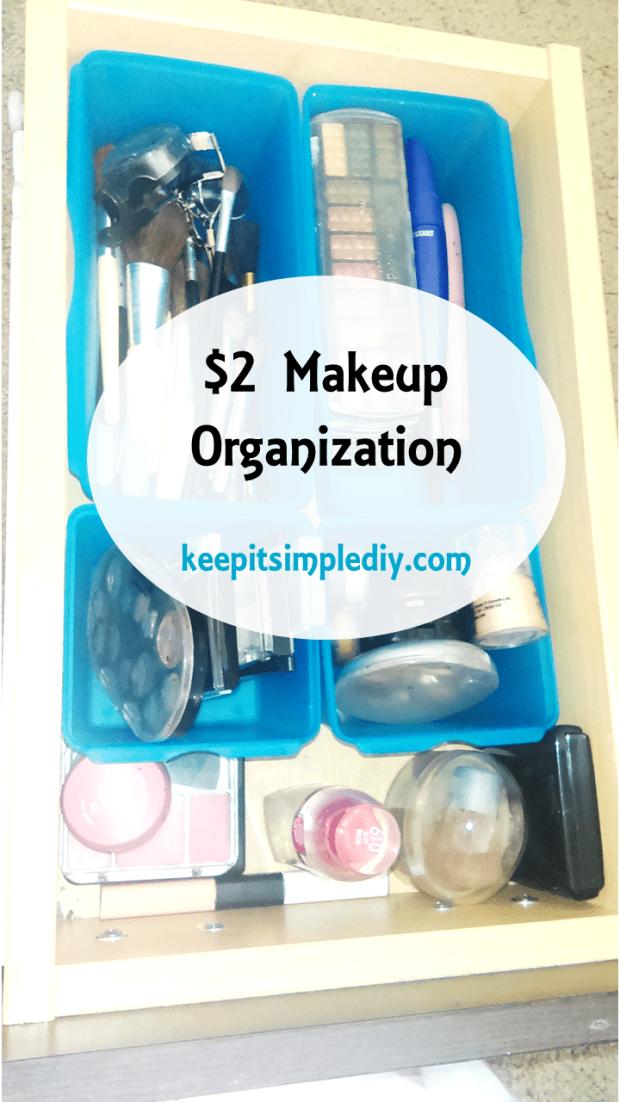 $2 Makeup Organization