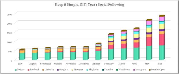 Year 1 Social Following