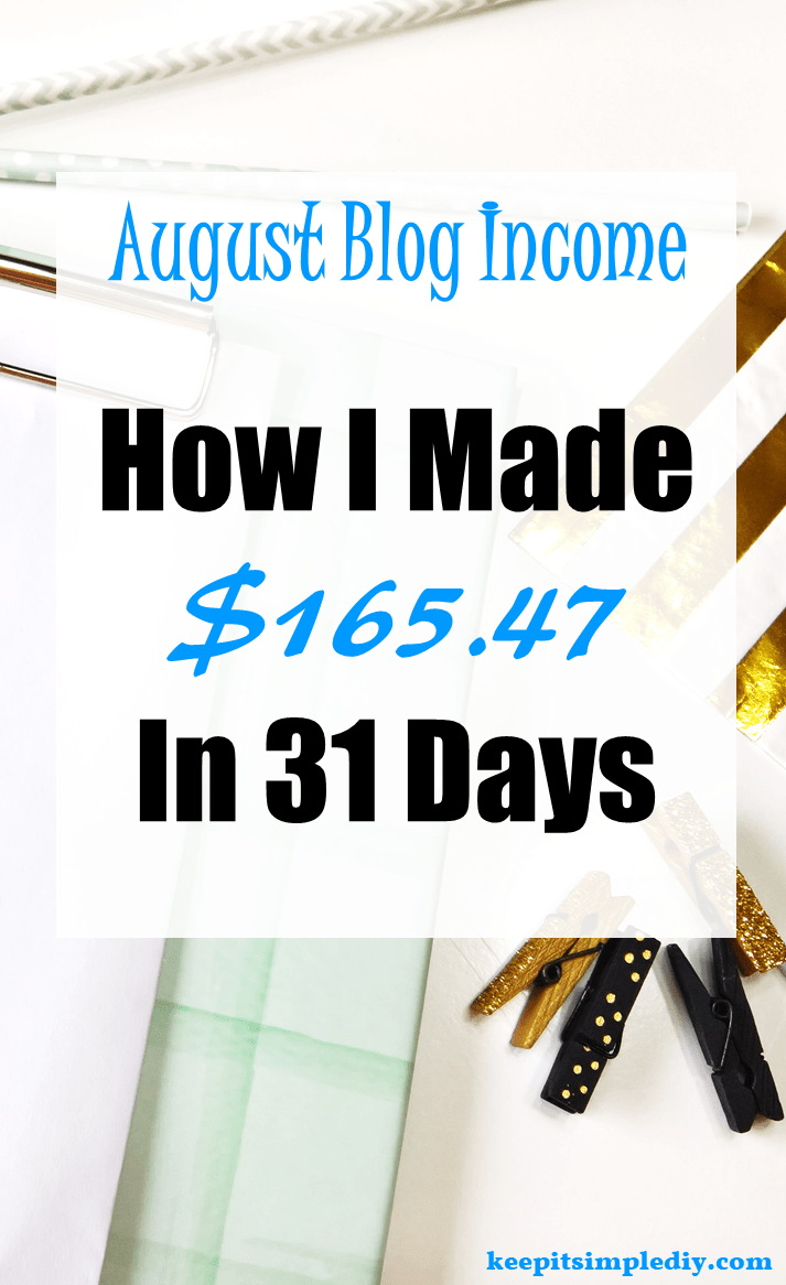 August 2017 Blog Income Report