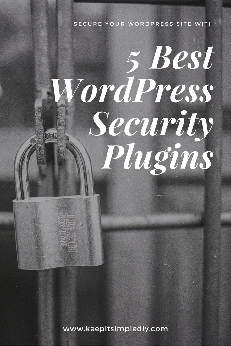 best wordpress security plugin - keepitsimplediy