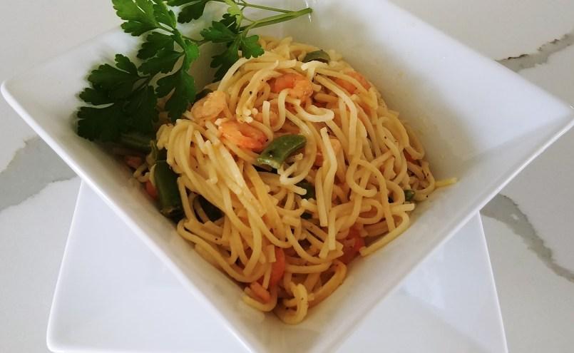 Lemon Shrimp Noodles