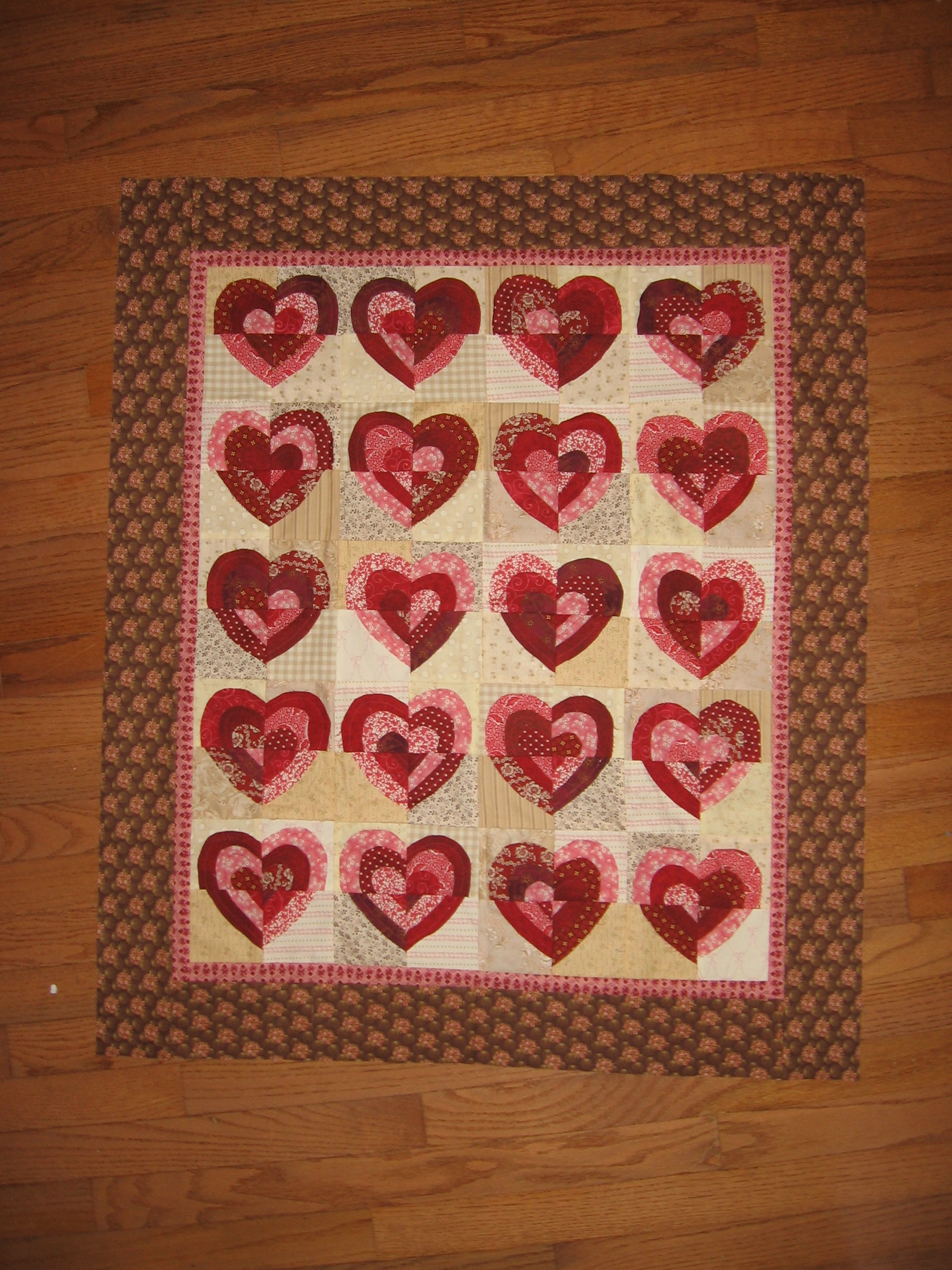 Ruffled Hearts Quilt