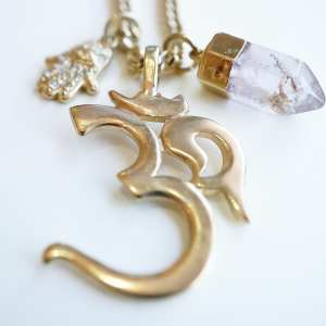 Om Gold Necklace