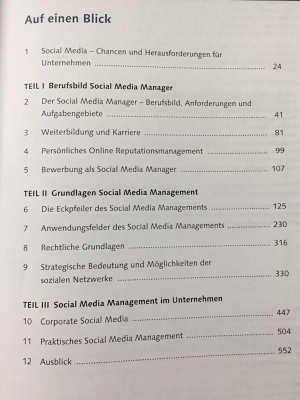 """Inhalt von """"Der Social Media Manager"""", Vivian Pein"""