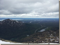 Looking east over the Kenai Peninsula, from the top of Skyline.