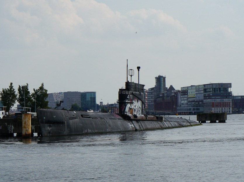 Cool Submarine at the dock
