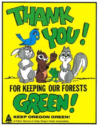 ThankYouForKeepingOurForestGreen86