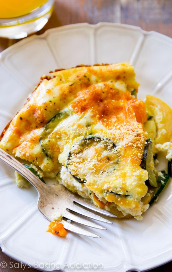 Sallys Baking Addiction 110 Calorie Crustless Veggie