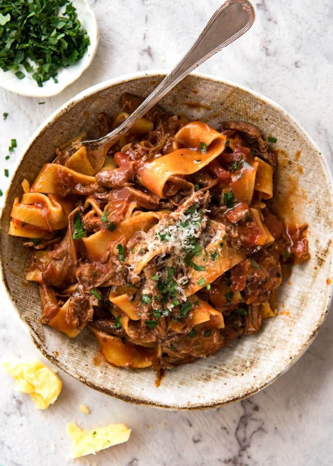 Slow Cooked Shredded Beef Ragu Pasta | KeepRecipes: Your